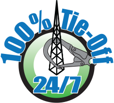 NATE: The Communications Infrastructure Contractors Association | - 100 Tie Off 24/7 Logo