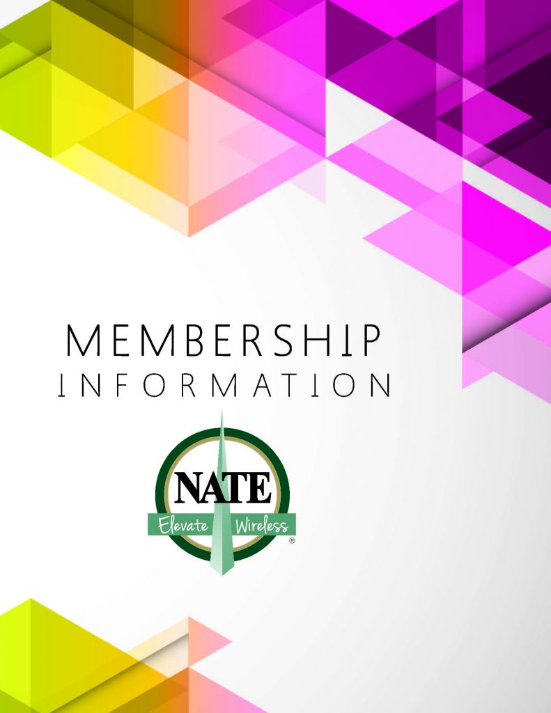 Nate Membership Brochure Cover Jpeg