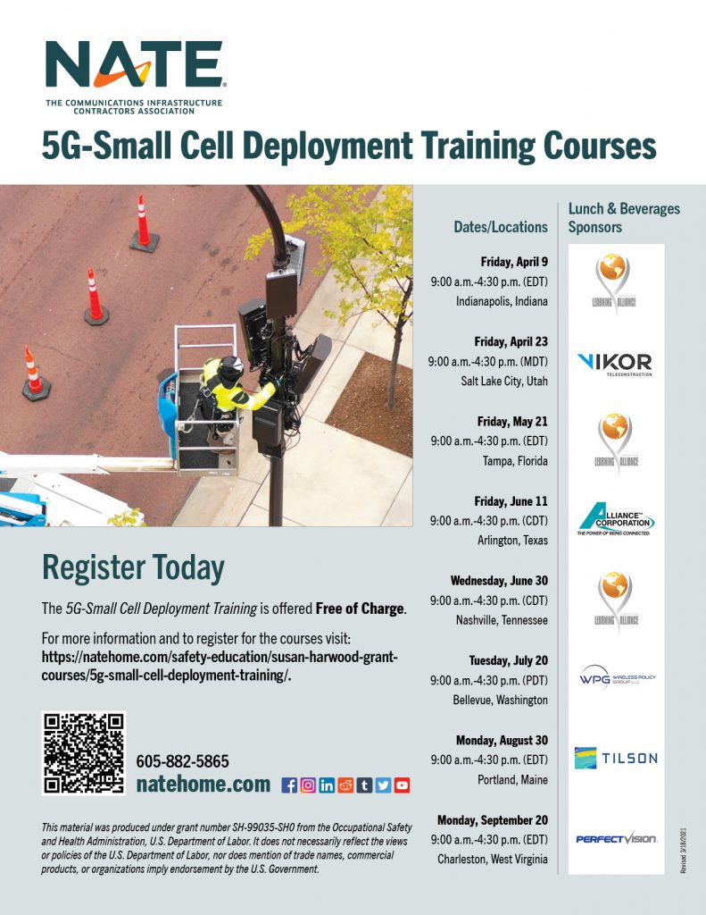 5g Small Cell Deployment Training Flyer 2021 W Sponsors