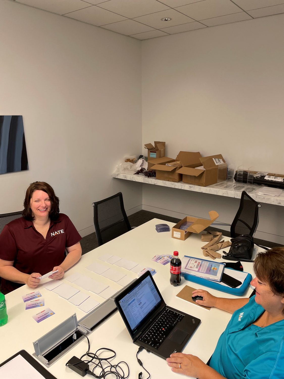Sara And Nikki In The Work Room At The Gleacher Center