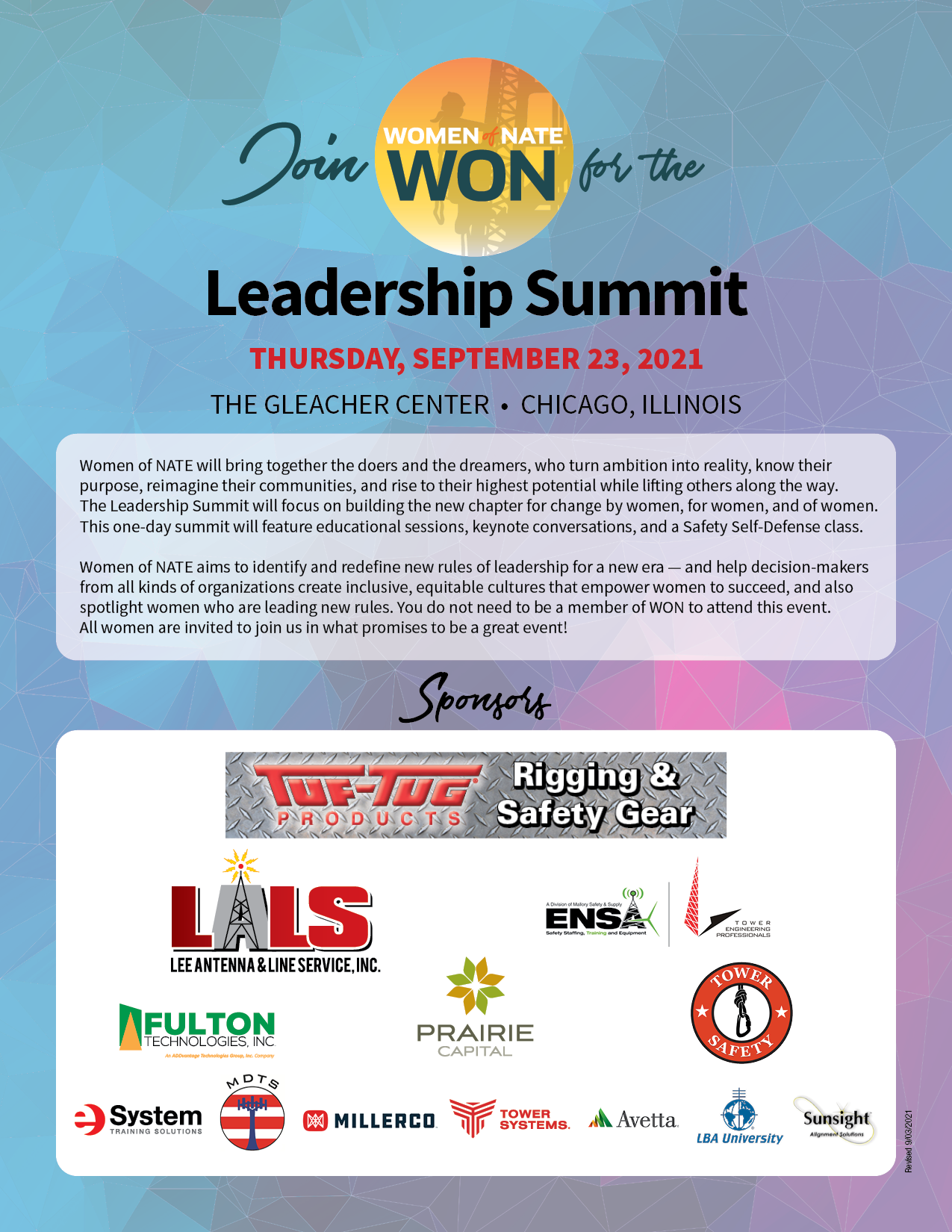 Won Summit 2021 Flyer W Speakers Rev 9 15 21